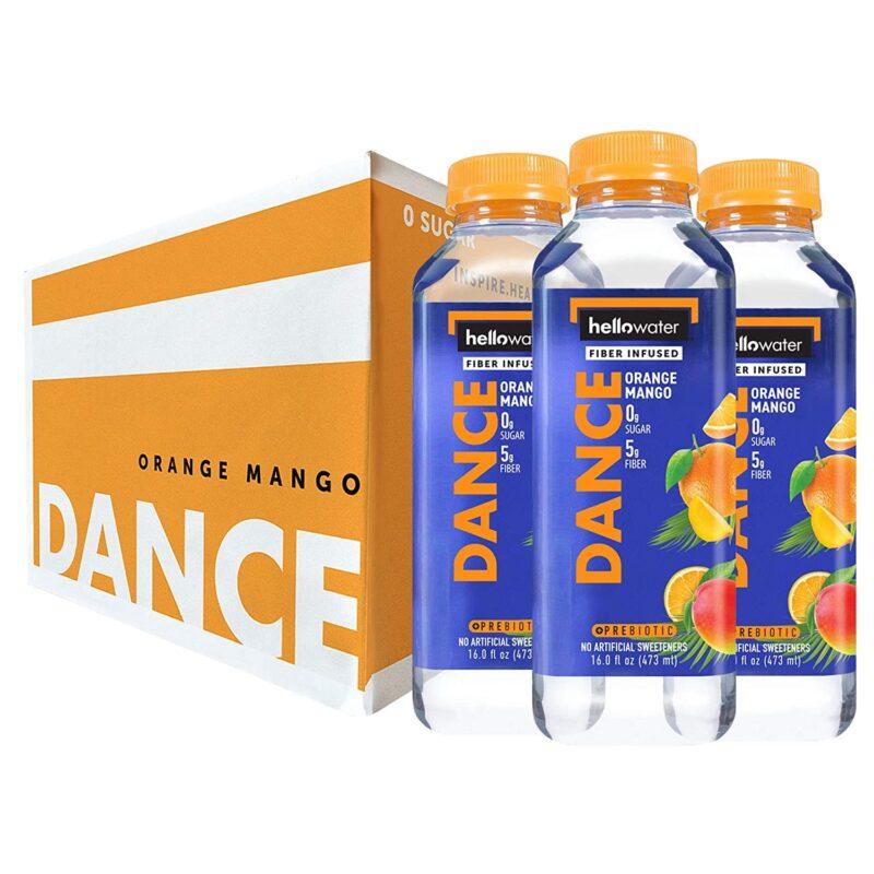 hellowater® Prebiotic fiber infused flavored water - dance - orange mango 1500x