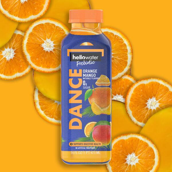 hellowater® Prebiotic Fiber Water- DANCE - OrangeMango