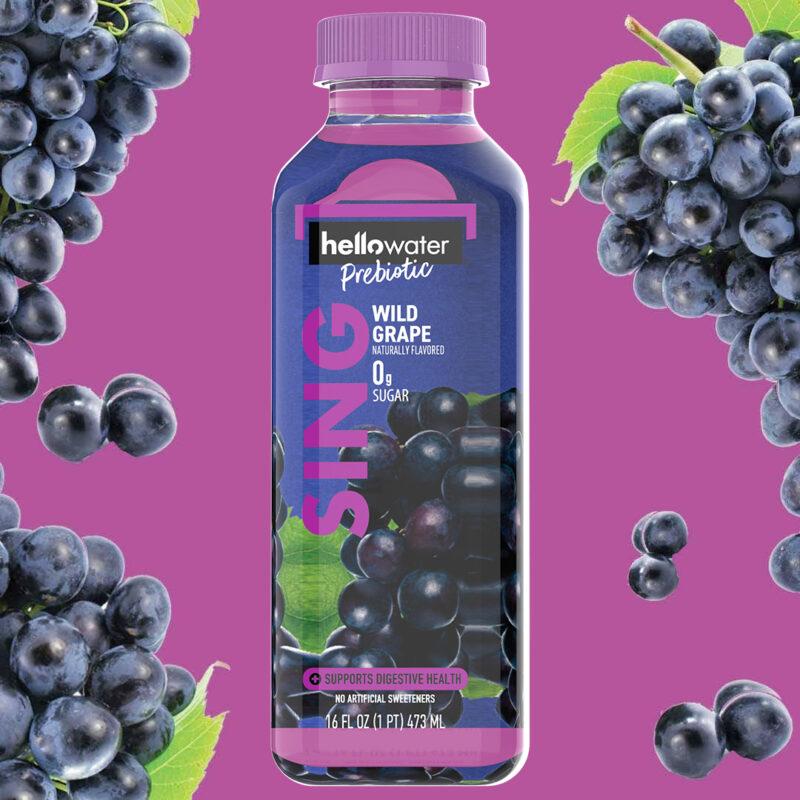 hellowater®Prebiotic Fiber Water - SING - Wild Grape