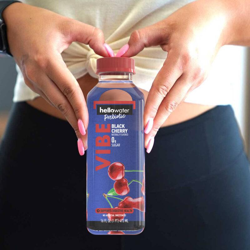 hellowater®Prebiotic Fiber Water- VIBE - woman hands