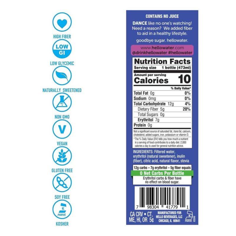 hellowater® Prebiotic fiber infused flavored water - sing- wild grape nutrients_1080x