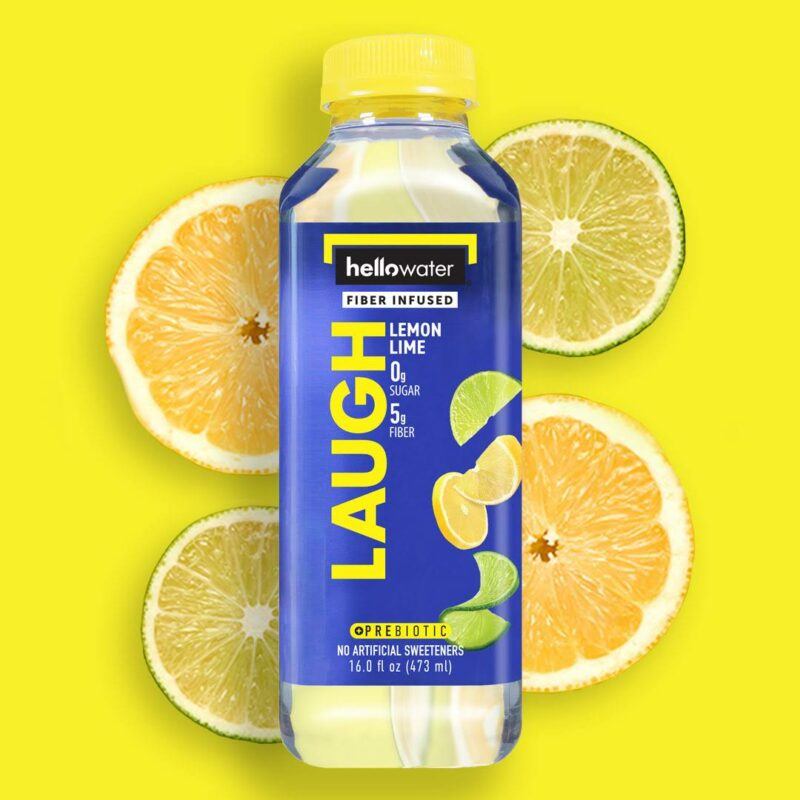 hellowater® prebiotic - fiber infused flavored water - laugh - lemon lime