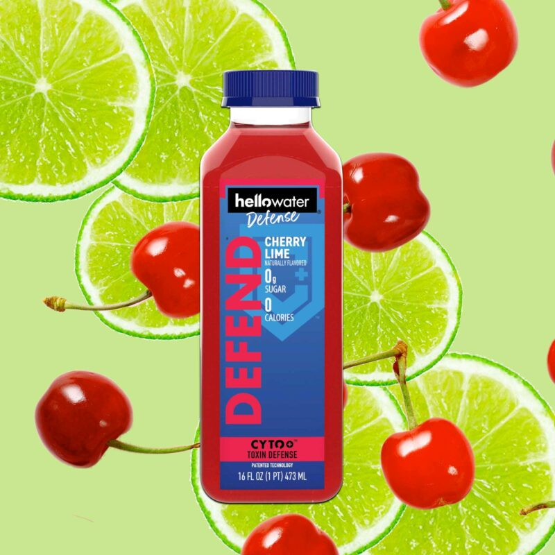 hellowater® Defense - cherry lime product