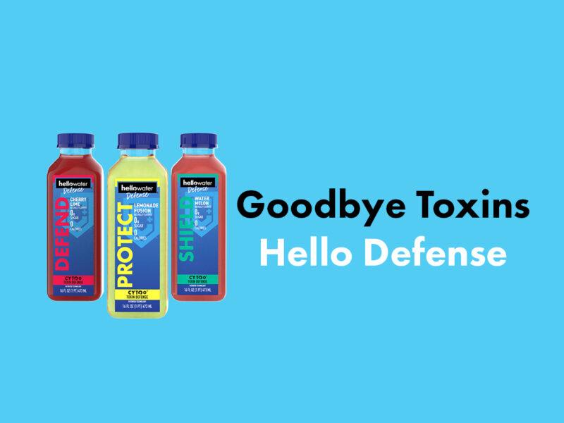 hellowater®Defense-3 bottles no shadow. - tagline