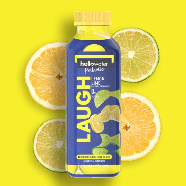 hellowater®Prebiotic Fiber Water- LAUGH -Lemon Lime