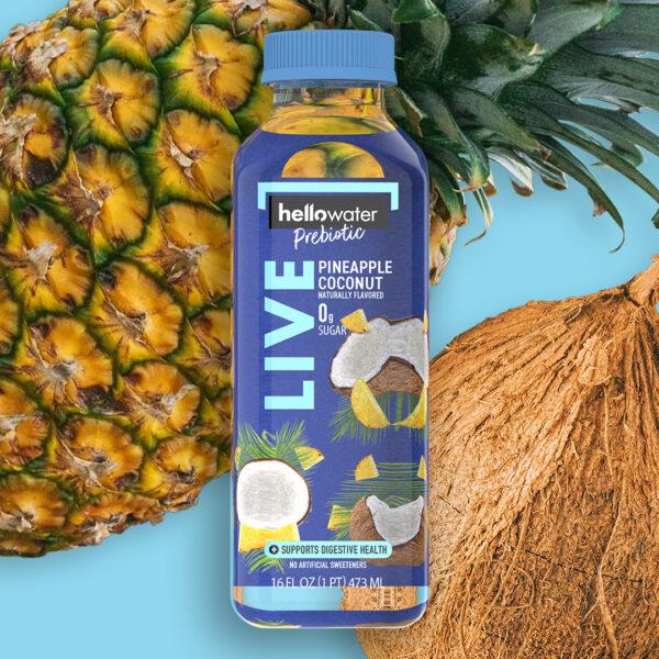 hellowater®Prebiotic Fiber Water - LIVE - Pinapple Coconut