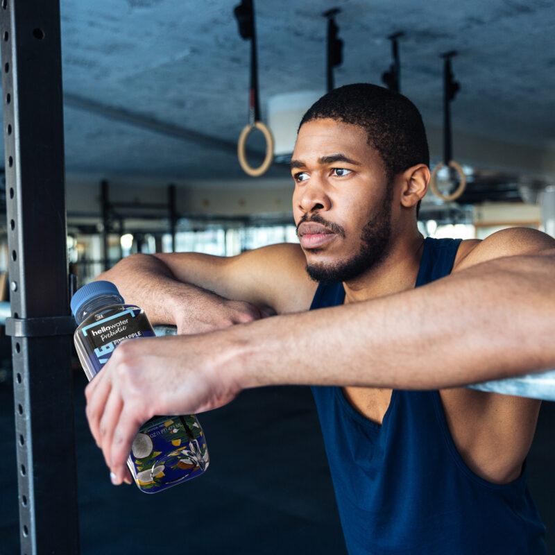 hellowater®Prebiotic Fiber Water- LIVE - man - gym