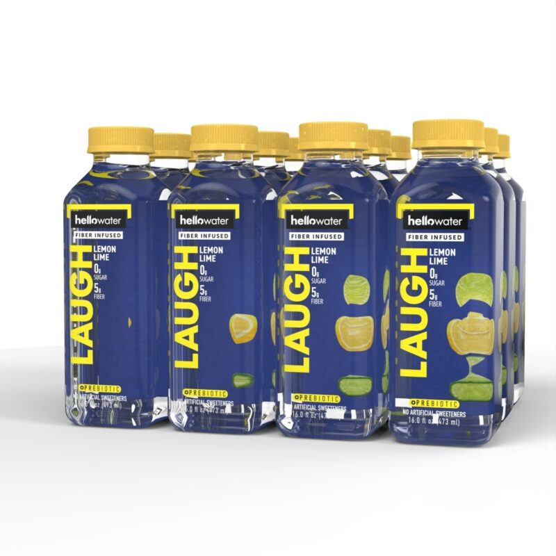 hellowater® Prebiotic fiber infused flavored water - laugh - lemon lime