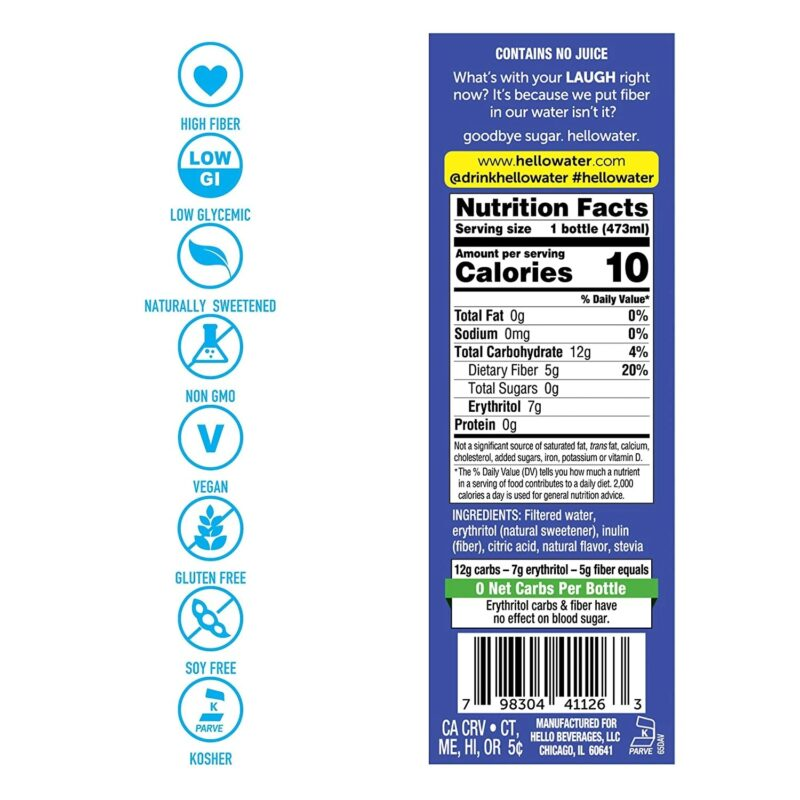 hellowater® Prebiotic fiber infused flavored water - laugh - lemon lime nutrients_1500x