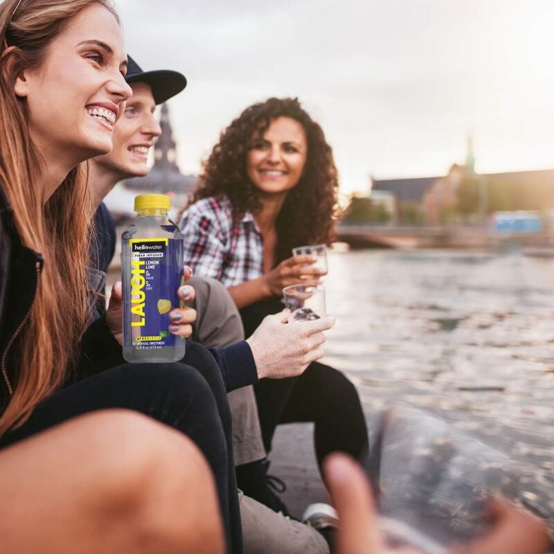 group of people drinking hellowater® Prebiotic fiber infused flavored water - laugh - lemon lime1080x_1080x