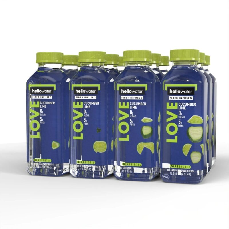 hellowater® Prebiotic - Fiber Infused Flavored water - cucumber lime 1200x