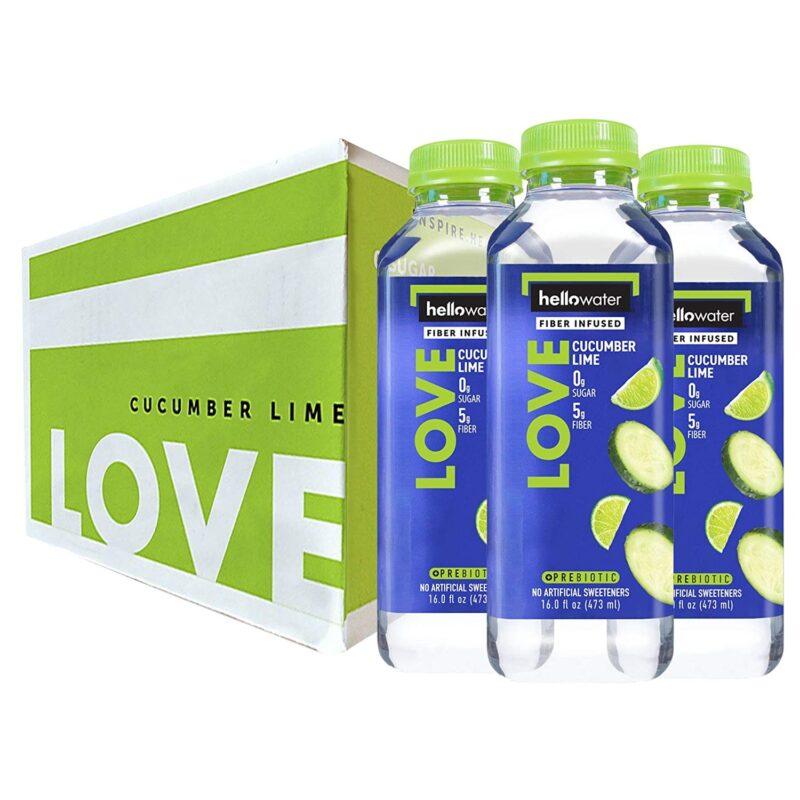 hellowater® Prebiotic fiber infused flavored water - cucumber lime