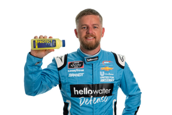 Justin Allgaier and hellowater
